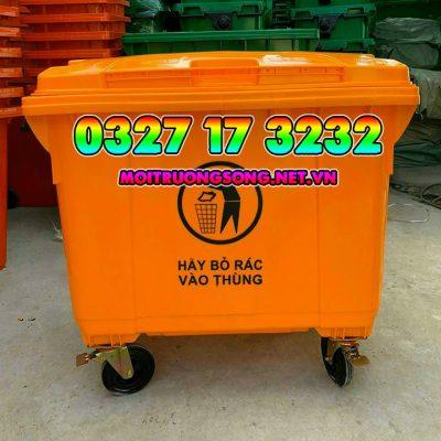 thùng rác công cộng 660l giá rẻ